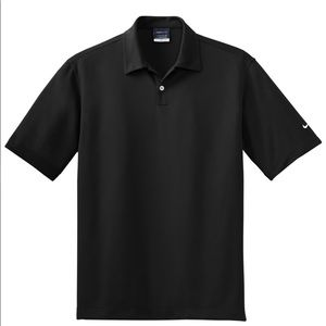 Nike Men's Black Dri-FIT Short Sleeve Polo